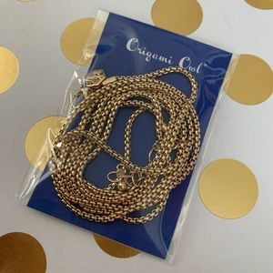 "New in bag Origami Owl 36-38"" gold cube chain"